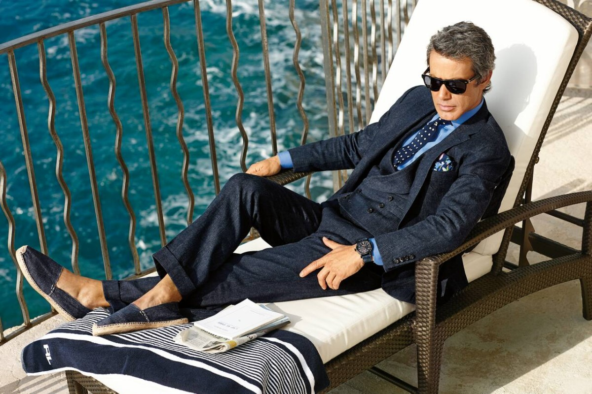 Letní lněný oblek