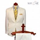 Letní bílý oblek ve stylu Gatsby